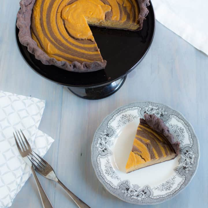 Butterscotch-Pumpkin Zebra Pie