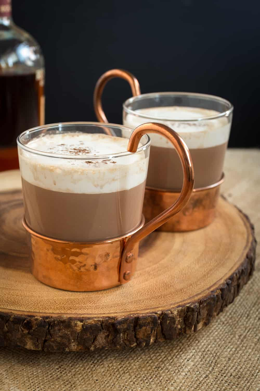 Hazelnut Bourbon Hot Chocolate