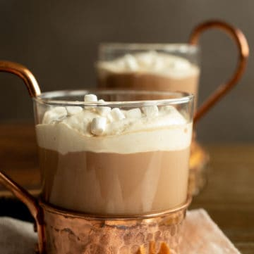 Hazelnut Bourbon Hot Chocolate