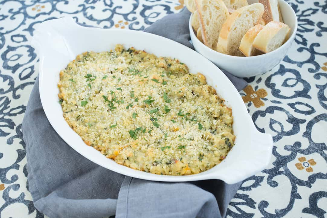 holiday baked clam dip