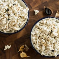 Black Garlic-Sesame Popcorn