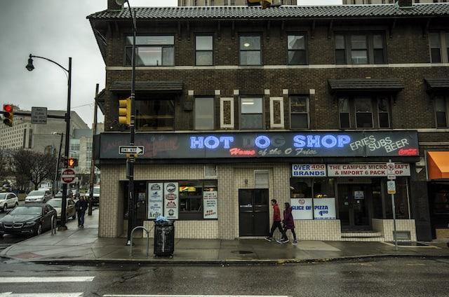 Pittsburgh Original Hot Dog Shop Exterior 1_Photograph © Peter Sorrell.jpg Pittsburgh Original Hot Dog Shop Exterior 2_Photograph © Peter Sorrell.jpg Pittsburgh's Original Hot Dog Shop, via goodfoodstories.com