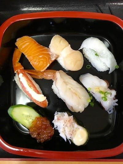 fish market sushi in Japan, via goodfoodstories.com
