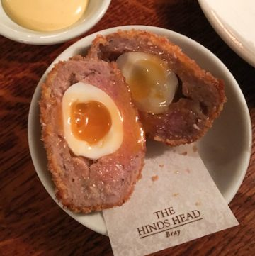 scotch egg at The Hinds Head, via www.www.goodfoodstories.com