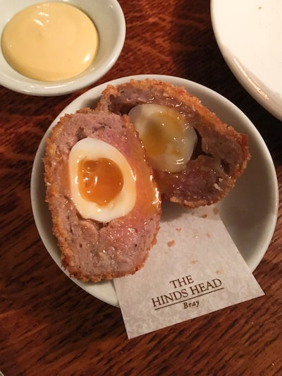 scotch egg at The Hinds Head, via goodfoodstories.com