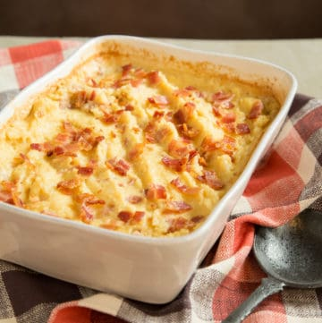 maple bacon polenta casserole