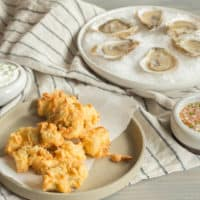John Adams' Hot Fried New England Oysters with Cool Cucumber Remoulade
