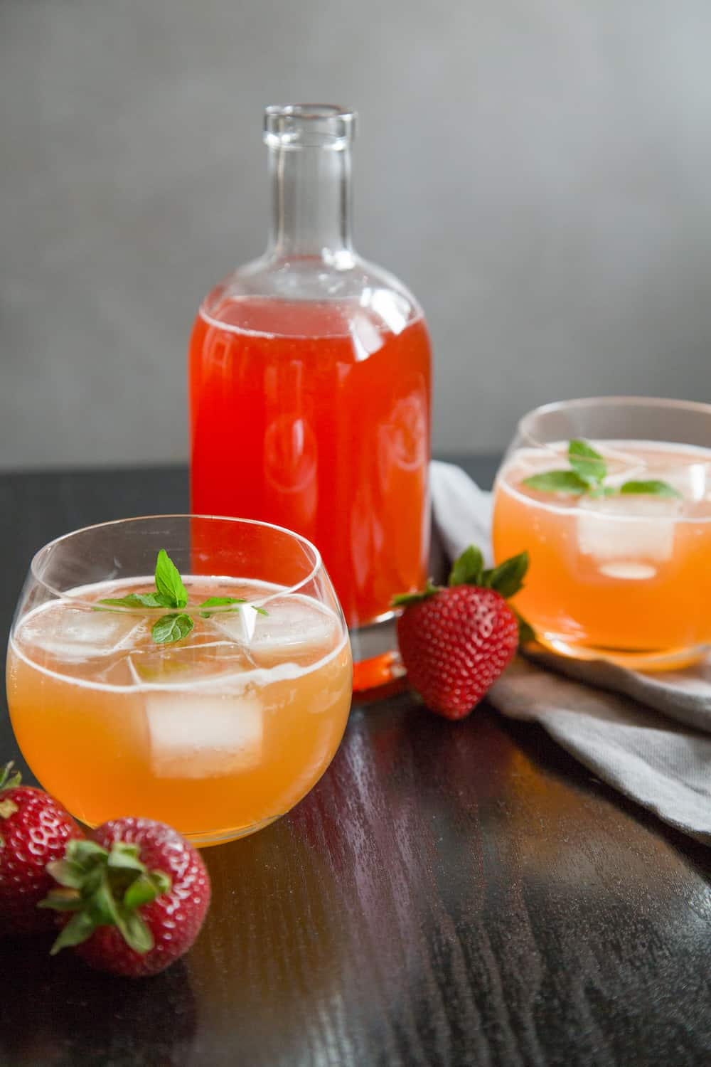Quick(ish) Strawberry Shrub