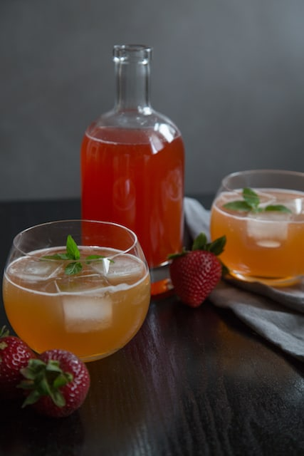 quick(ish) strawberry shrub recipe, via goodfoodstories.com