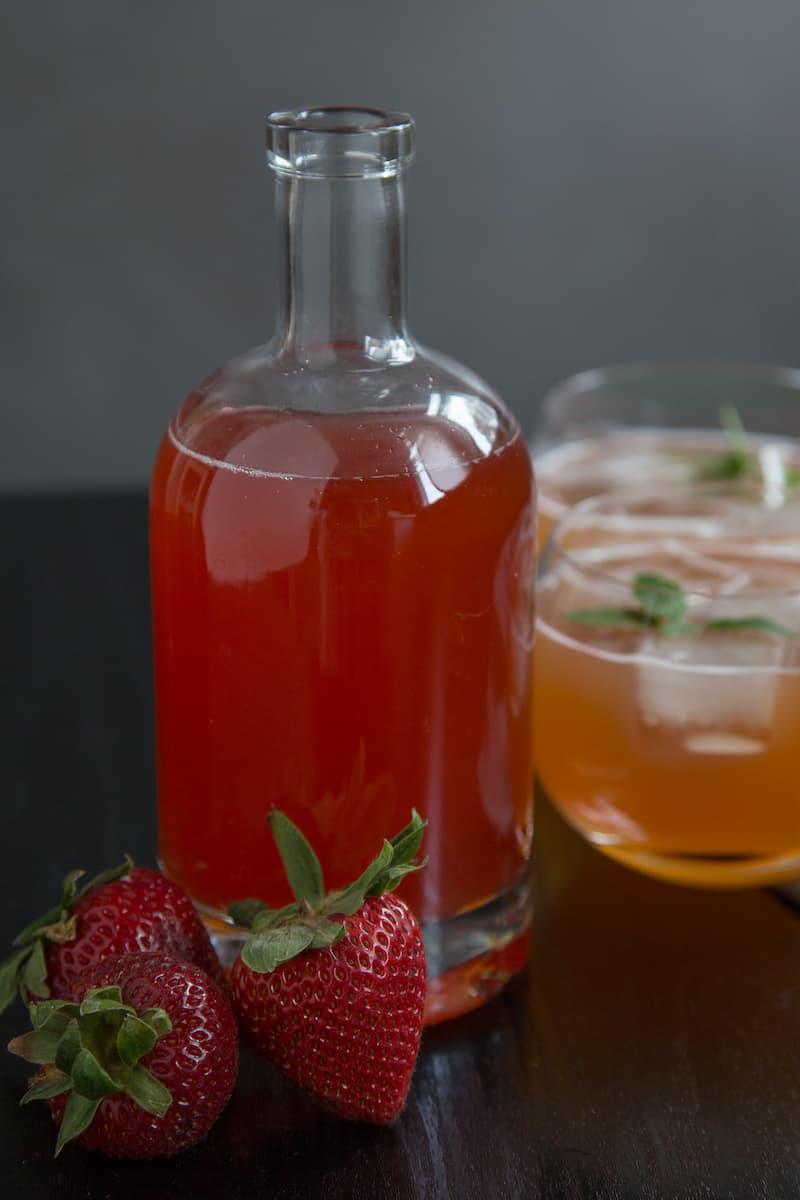strawberry shrub, or drinking vinegar