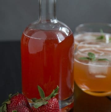 quick(ish) strawberry shrub recipe, via www.www.goodfoodstories.com