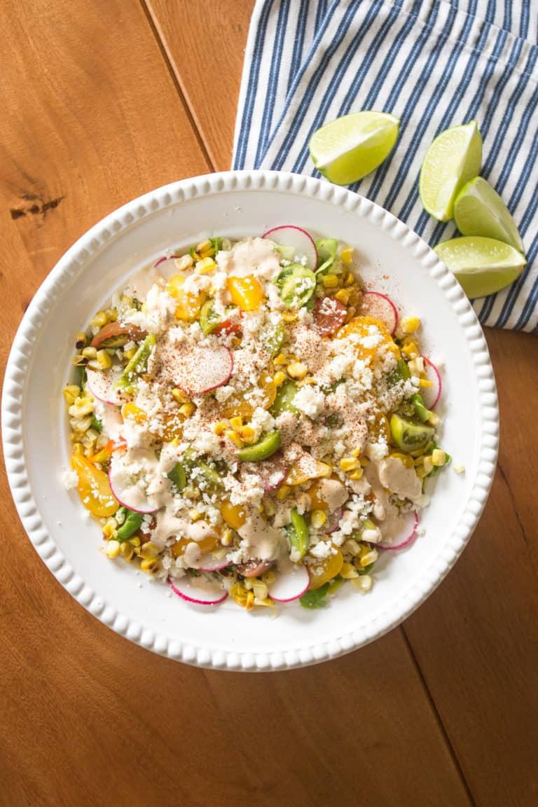 Elote Corn Salad: More Flavor, Less Mess
