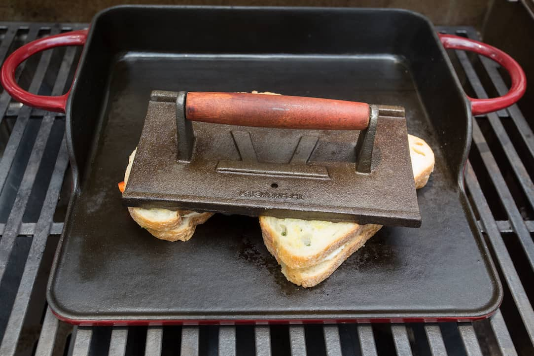 make panini sandwiches on the grill, via www.goodfoodstories.com