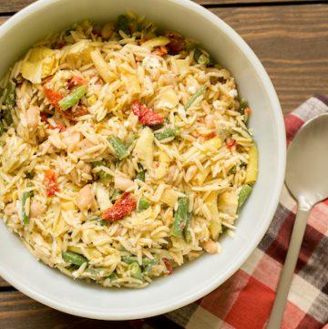 mediterranean orzo salad, via goodfoodstories.com