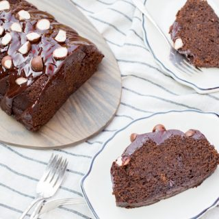 "The Black Cow malted chocolate stout cake from the cookbook ""Cake, I Love You"" - via goodfoodstories.com"