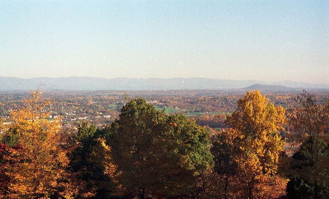 View from Monticello to Charlottesville - via www.www.goodfoodstories.com