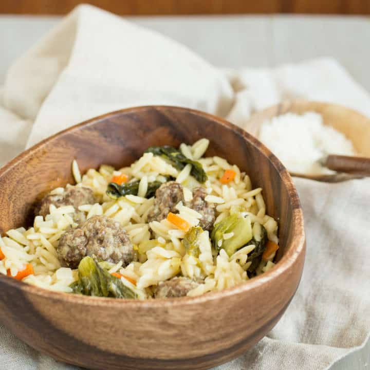 One-Pot Italian Wedding Soup Pasta
