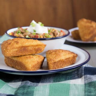 crunchy millet skillet cornbread, via goodfoodstories.com