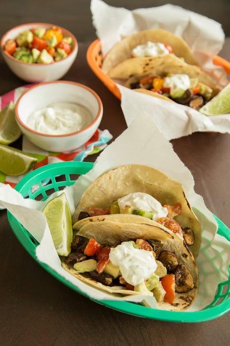 mushroom tacos, via goodfoodstories.com