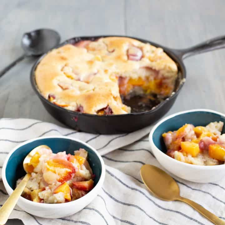 Peach Cobbler Cake with Rosemary