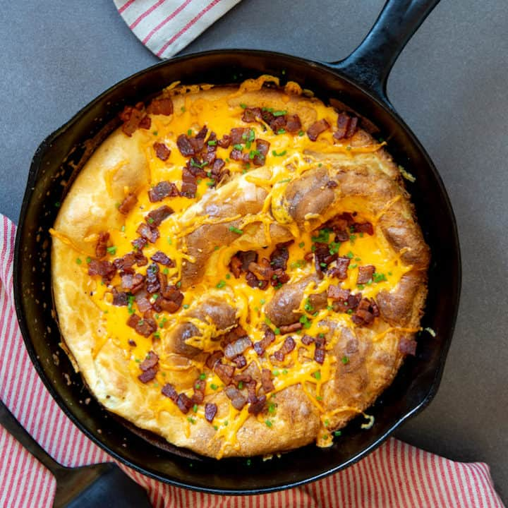 Smoky Bacon and Cheese Dutch Baby