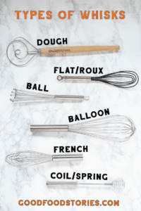 different types of whisks