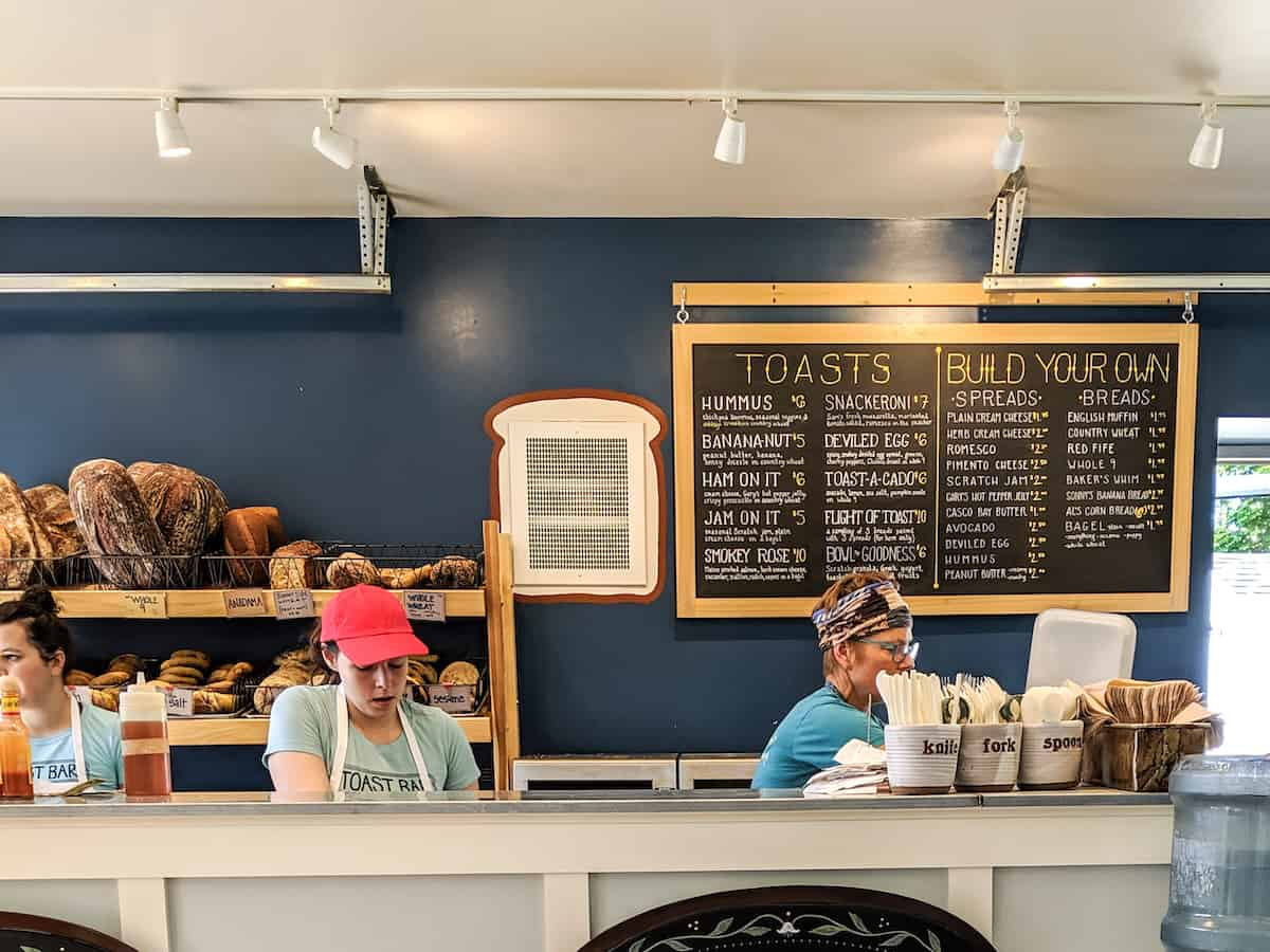 Toast Bar in South Portland, Maine