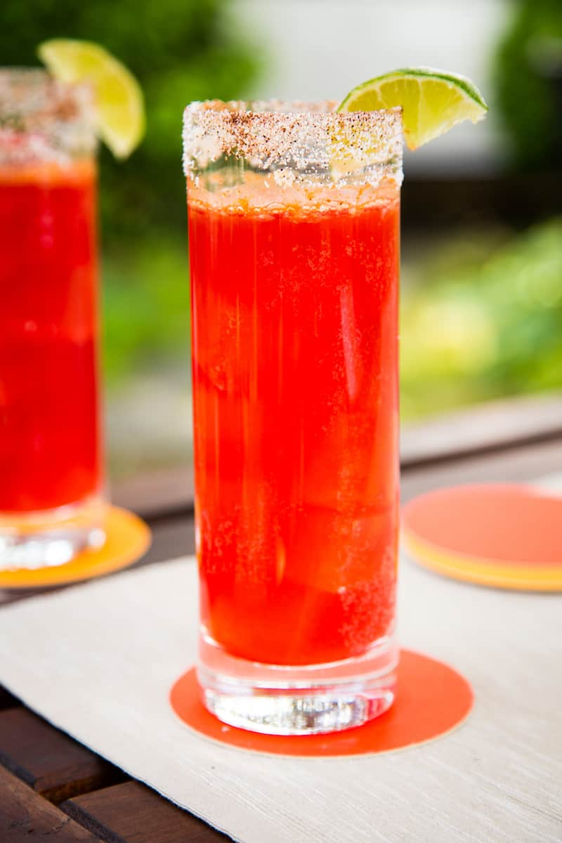 prickly pear micheladas - beer cocktails