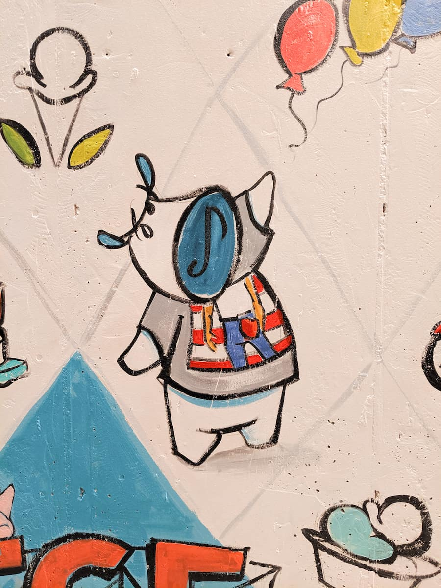 mural detail in Ample Hills Jersey City shop