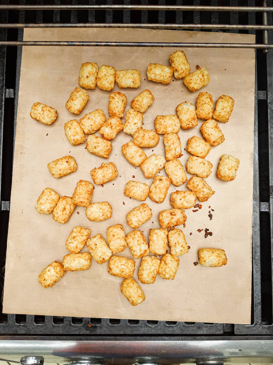 tater tots on the grill