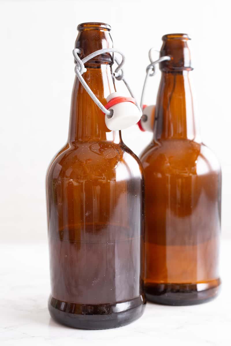 flip-top glass bottles