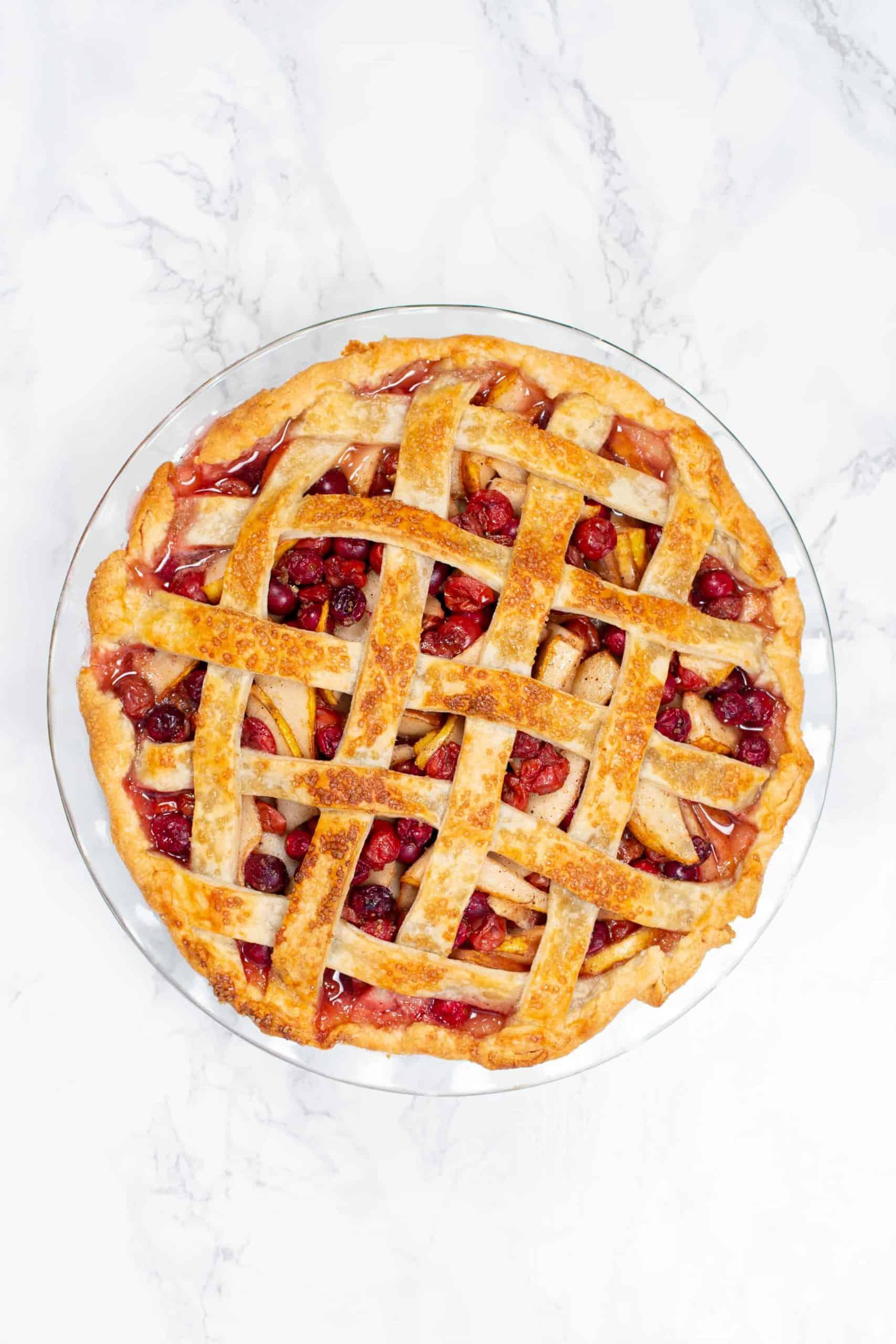 cherry pie with lattice pie crust