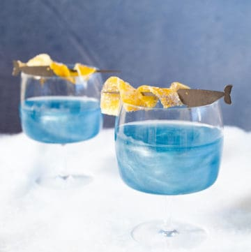 narwhal cocktails made with milk punch