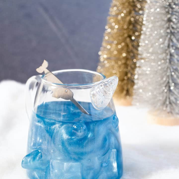 Narwhal Cocktails (Milk Punch with Shimmer Dust)