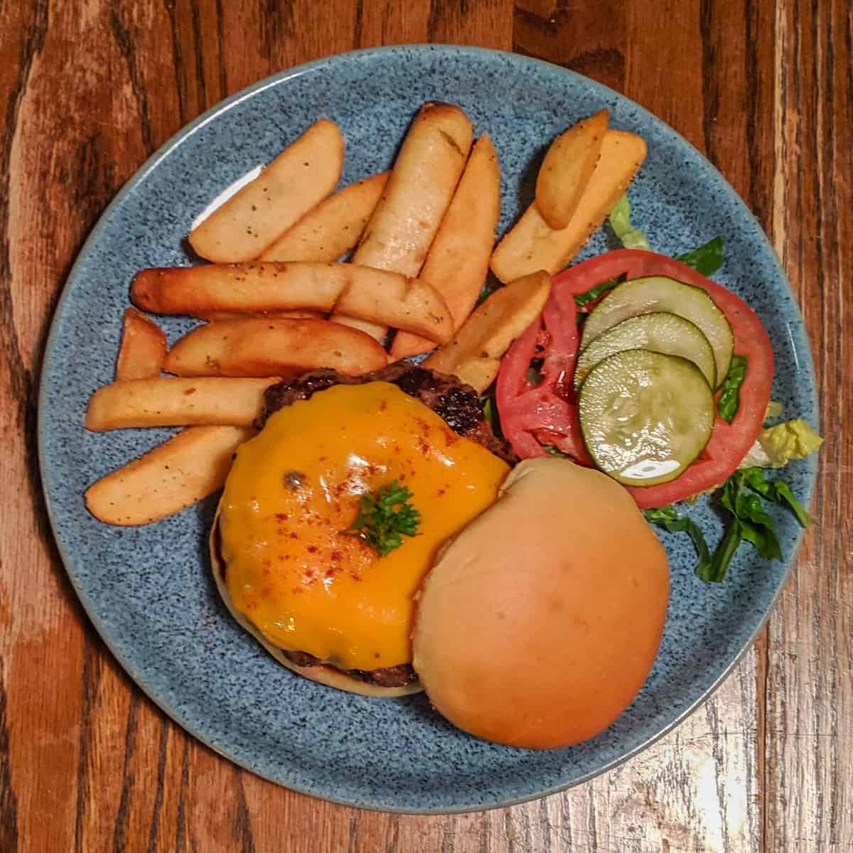 FourWay cheeseburger with soft cheddar