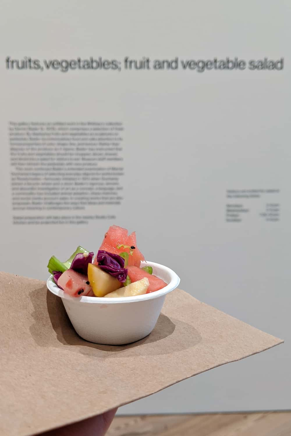 watermelon salad at the Whitney Museum