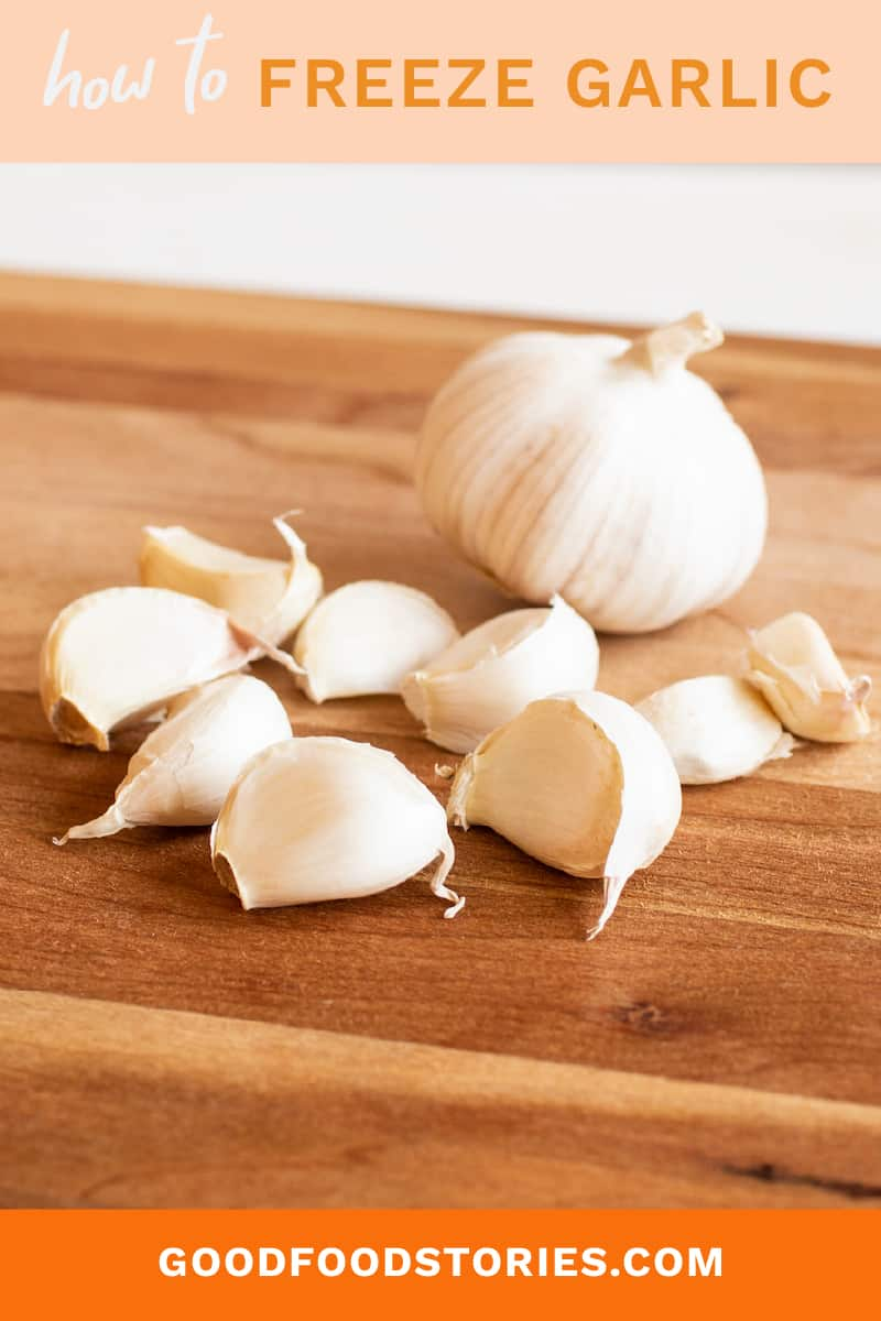 how to freeze garlic