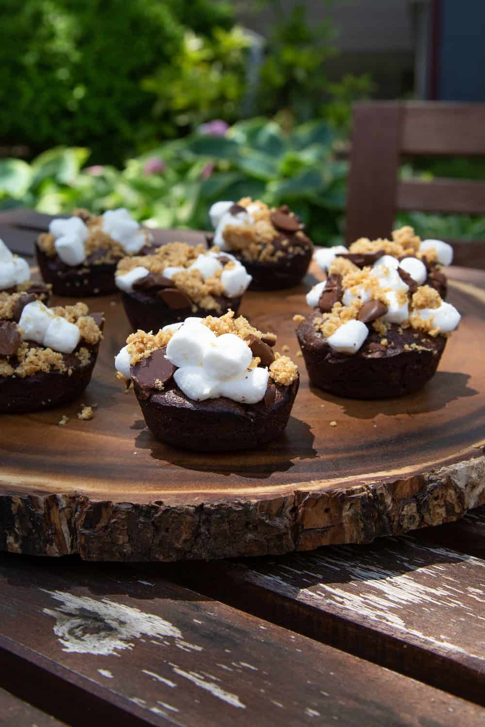 S'mores Brownie Bites (Baked on the Grill!)
