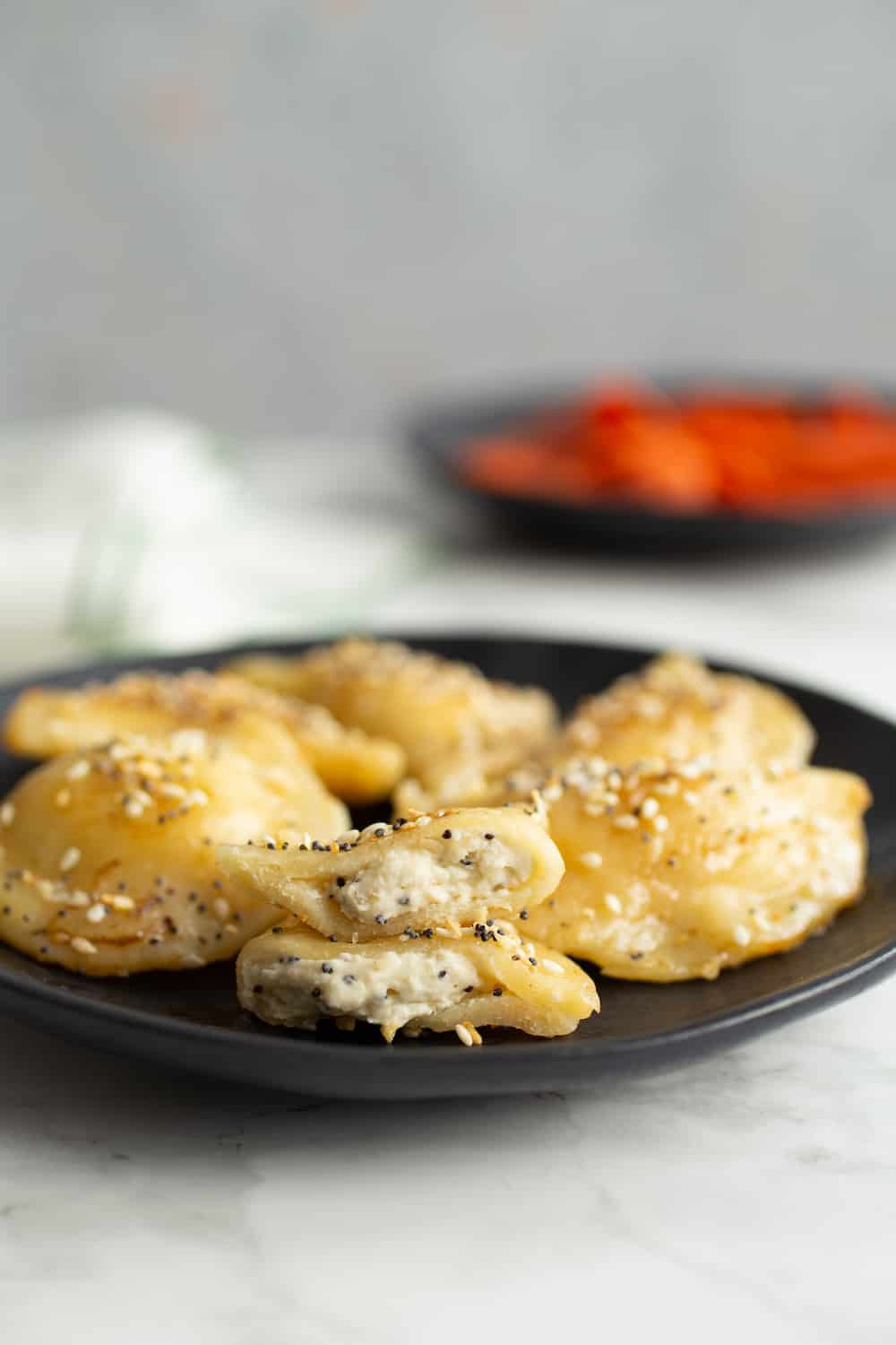 everything bagel pierogies