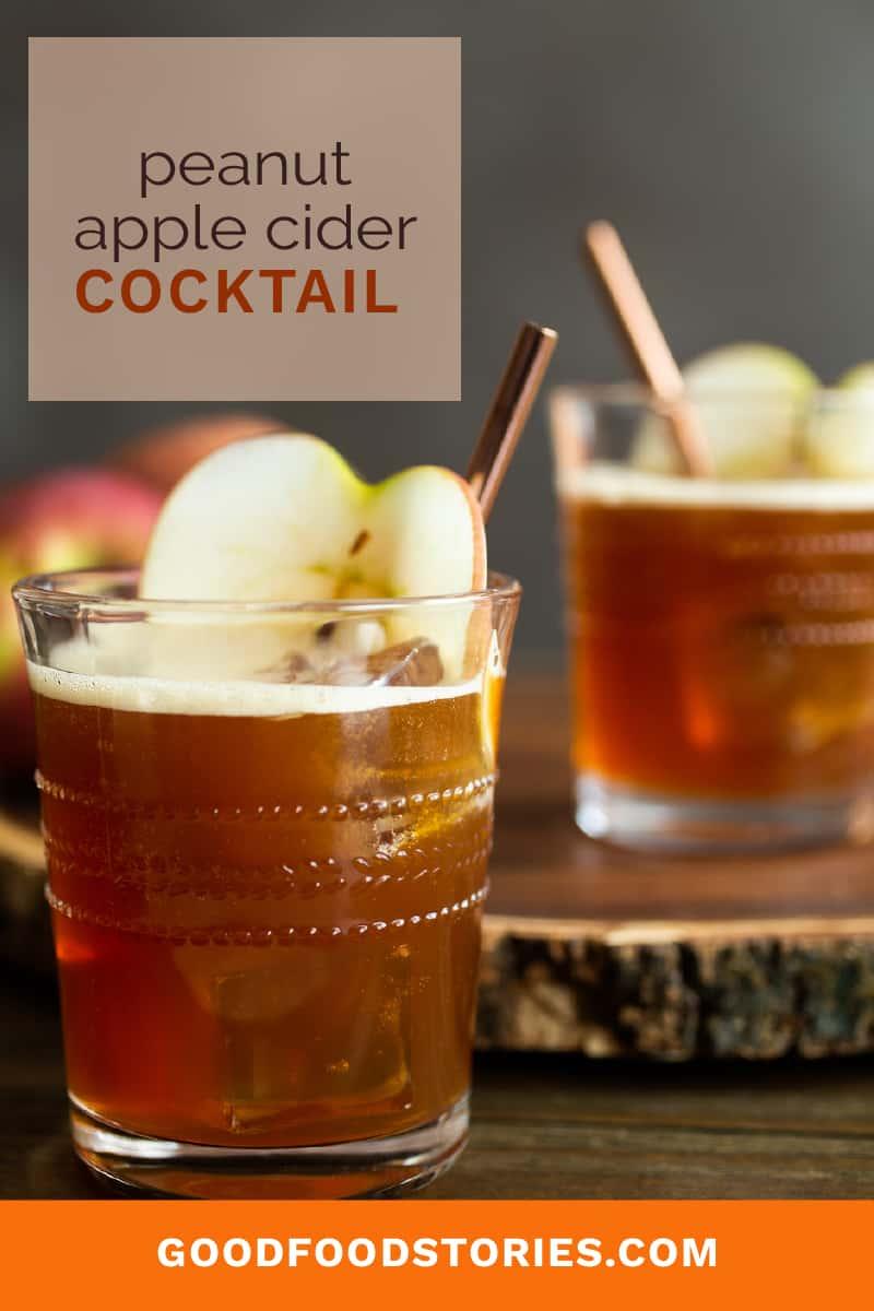 peanut apple cider cocktail