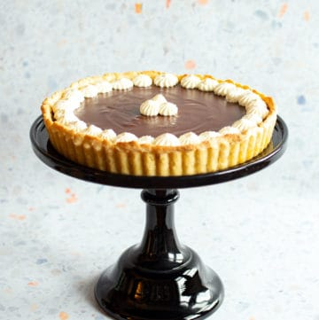 chocolate pot de creme tart