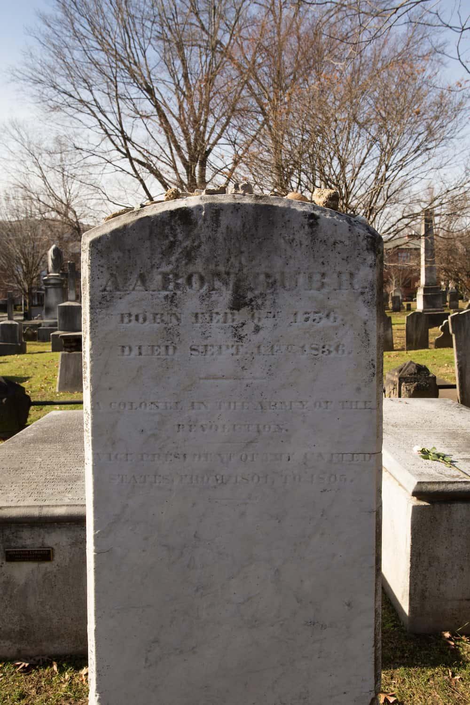 Aaron Burr's grave