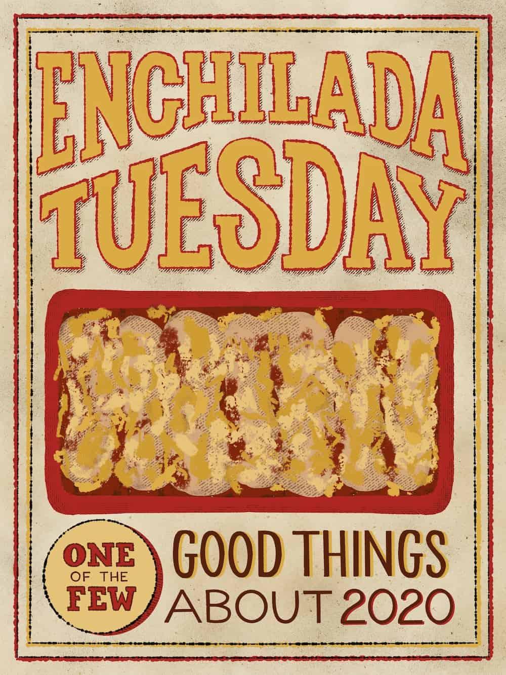 Enchilada Tuesday poster illustration