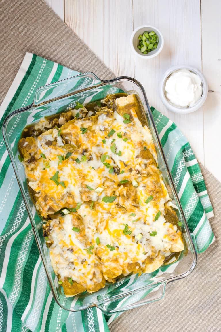 Chicken Enchiladas Verde (And My Basic Enchilada Template)