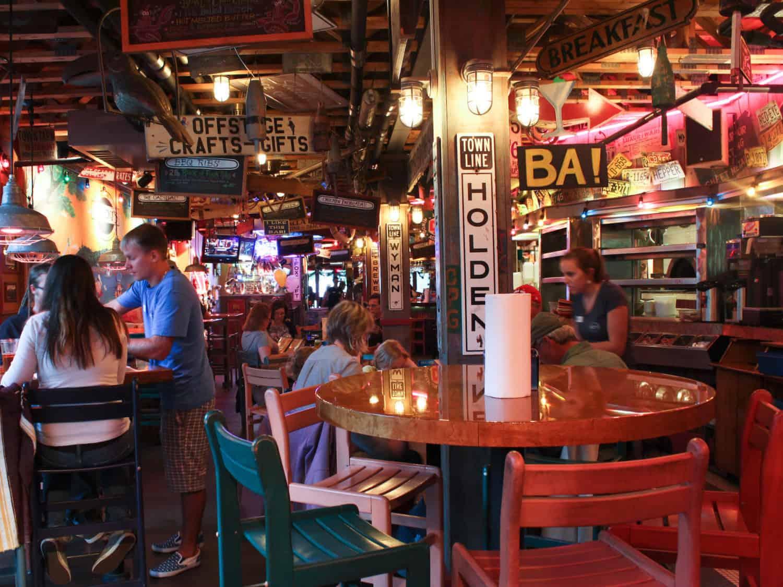 interior of Geddy's in Bar Harbor, Maine