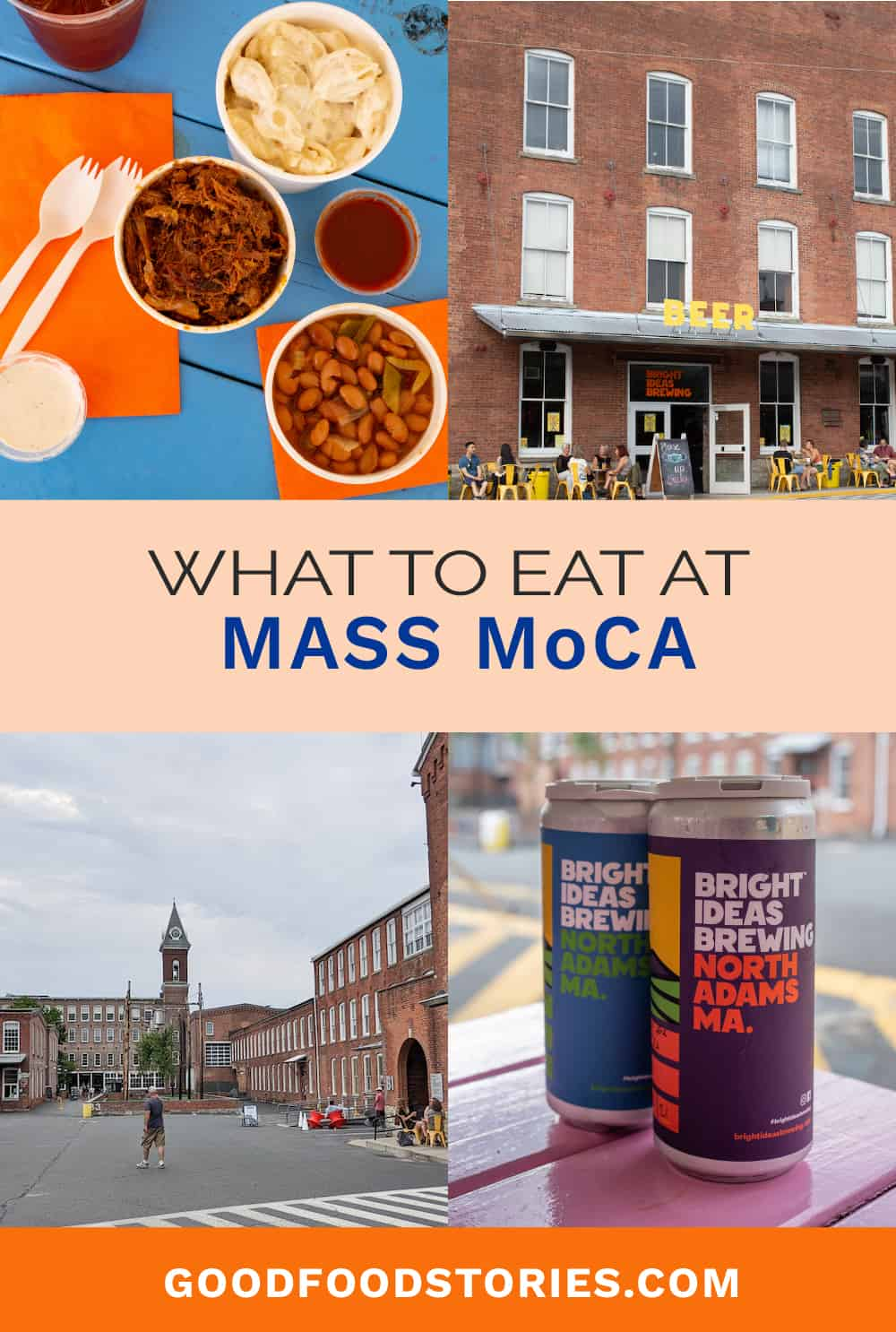 A-OK BBQ meal and Bright Ideas Brewing beers at MASS MoCA