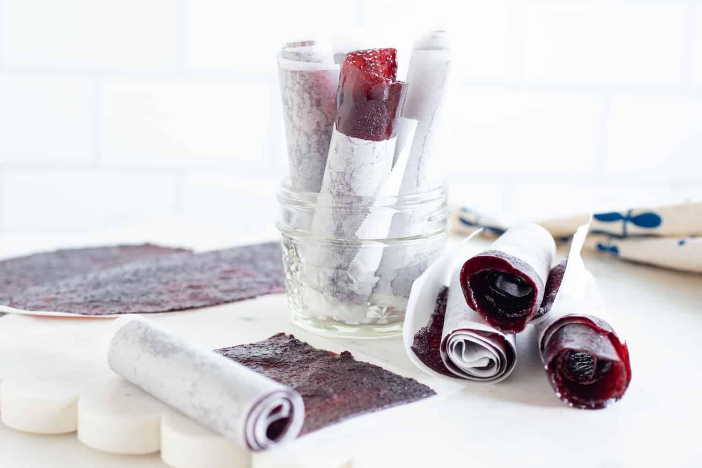 homemade grape fruit roll-ups